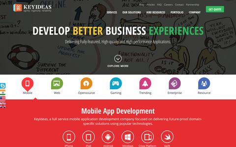 360° App Development, Custom Web Software & Services | Keyideas