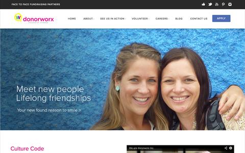 Screenshot of Signup Page donorworx.com - We are donorworx - donorworx - captured Oct. 5, 2014