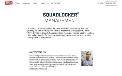 Screenshot of Team Page squadlocker.com - Management - SquadLocker - Employees - captured Oct. 15, 2017