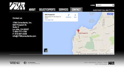 Screenshot of Contact Page 1798consultants.com - Contact - captured Nov. 6, 2015