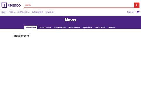 Screenshot of Press Page tessco.com - Tessco - News - captured Oct. 12, 2018