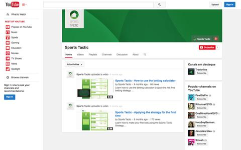 Screenshot of YouTube Page youtube.com - Sports Tactic  - YouTube - captured Oct. 30, 2014