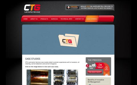 Screenshot of Case Studies Page ctgls.com.au - Oil analysis, oil cleaning, case study, case studies | CTG Lubrication Services - captured Oct. 1, 2014