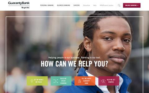 Guaranty Bank Homepage