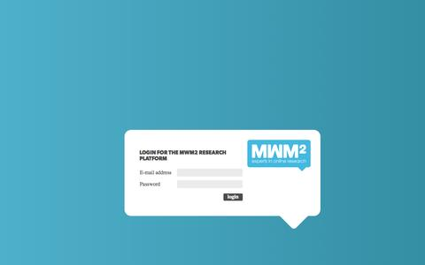 Screenshot of Login Page mwm2.nl - MWM2 Research platform - Login - captured Sept. 24, 2014