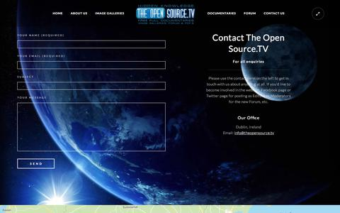 Screenshot of Contact Page theopensource.tv - Contact Us – TheOpenSource.TV - captured Oct. 23, 2017
