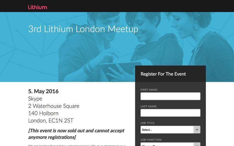 3rd Lithium London Meet-Up