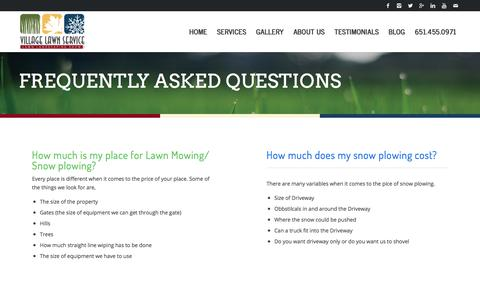 Screenshot of FAQ Page villagelawnservice.biz - FAQ - Village Lawn Service | Lawn Care St. Paul, MN - captured Sept. 20, 2018