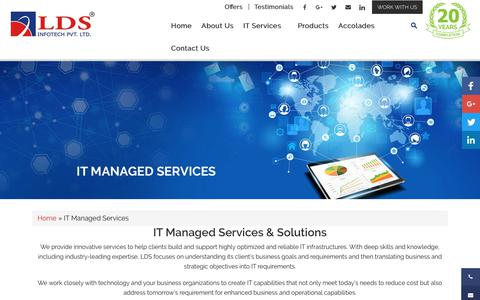 Screenshot of Services Page ldsinfotech.com - IT Managed Services   IT Solutions And Services Provider - LDS Infotech - captured Sept. 25, 2018
