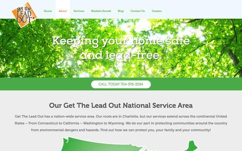 Screenshot of About Page gettheleadout.biz - Learn About Get The Lead Out, an Environmental Service Co. - captured Oct. 28, 2014