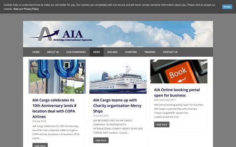 Screenshot of Press Page aiacargo.com - Latest News - Airbridge International Agencies - captured Nov. 12, 2018