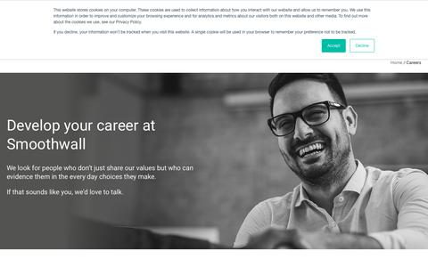 Screenshot of Jobs Page smoothwall.com - Careers | Smoothwall® | Digital safeguarding solutions - captured March 16, 2019