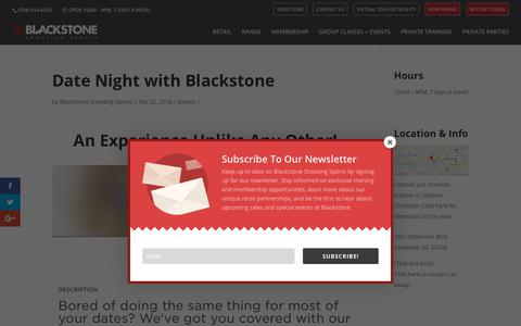 Screenshot of Signup Page blackstoneshooting.com - Date Night with Blackstone | Blackstone Shooting Sports | Indoor Range & Retail Store in Charlotte, NC - captured Aug. 2, 2018