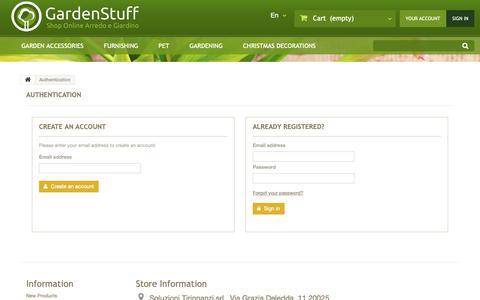 Screenshot of Login Page gardenstuff.it - Login - GardenStuff.it - captured Nov. 4, 2018