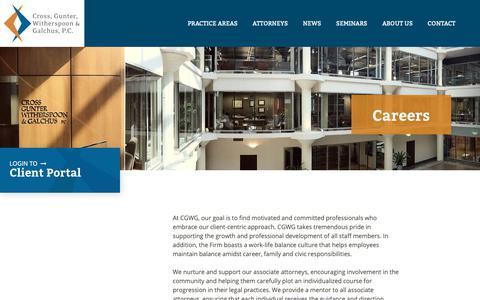 Screenshot of Jobs Page cgwg.com - Careers      | CGWG - captured Sept. 29, 2018