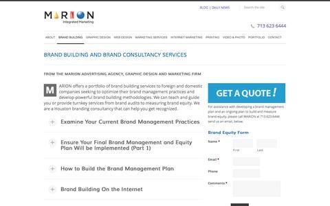 Brand Building, Brand Management & Brand Consultancy Services Houston