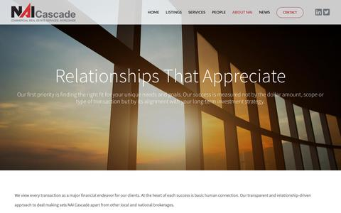Screenshot of About Page naicascade.com - About NAI - NAI Cascade - captured Oct. 26, 2018