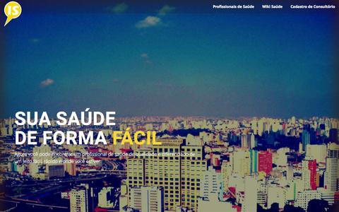 Screenshot of Home Page indicedesaude.com - IS Premium 2015 | Profissionais de Saúde: Médicos, Psicólogos, Dentistas e mais! - captured Aug. 8, 2015