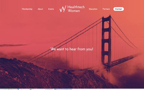 Screenshot of Contact Page healthtechwomen.com - Contact | Healthtech Women - captured July 17, 2018