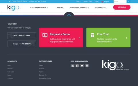 Screenshot of Trial Page kigo.net - Free Trial | Kigo - captured Nov. 11, 2018