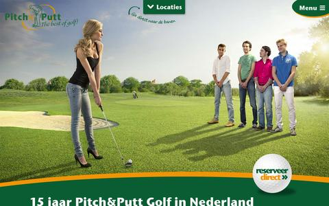 Screenshot of Home Page pitch-putt.nl - Pitch&Putt Golf - Pitch&Putt Golf - captured Oct. 2, 2014