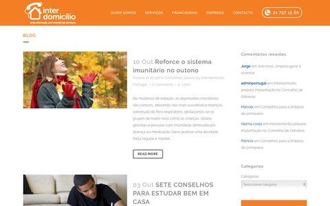 Screenshot of Blog interdomicilio.pt - Blog - Interdomicilio Portugal - captured Oct. 15, 2017