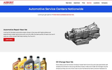 Nationwide Service Departments | Asbury Automotive Group