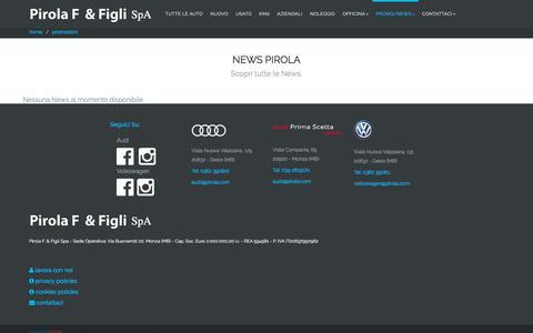 Screenshot of Press Page pirola.com - news  - Pirola F. & Figli Spa concessionaria e service Audi, Volkswagen a Desio - Monza e Brianza - captured March 11, 2018