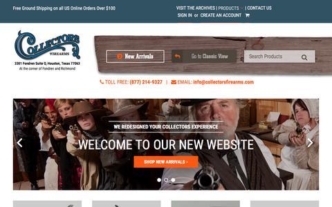 Screenshot of Home Page collectorsfirearms.com - Collectors Firearms - captured June 23, 2017