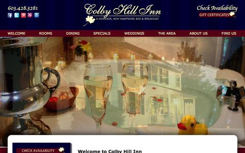 Screenshot of Home Page colbyhillinn.com - Colby Hill Inn: Bed and Breakfast in Henniker New Hampshire - captured Dec. 10, 2015