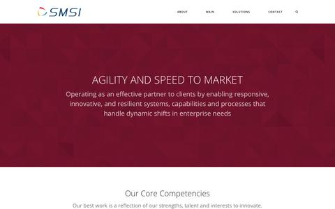 Screenshot of Home Page smsius.com - Main - Sysnet Managed Services, Inc. - captured Oct. 22, 2017