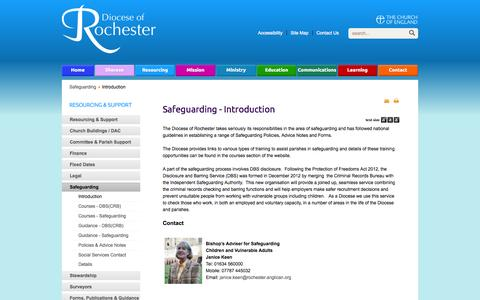 Screenshot of Press Page anglican.org - Safeguarding - Introduction - captured Sept. 23, 2014