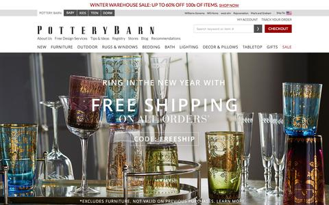 Screenshot of Home Page potterybarn.com - Home Furnishings, Home Decor, Outdoor Furniture & Modern Furniture | Pottery Barn - captured Dec. 31, 2015