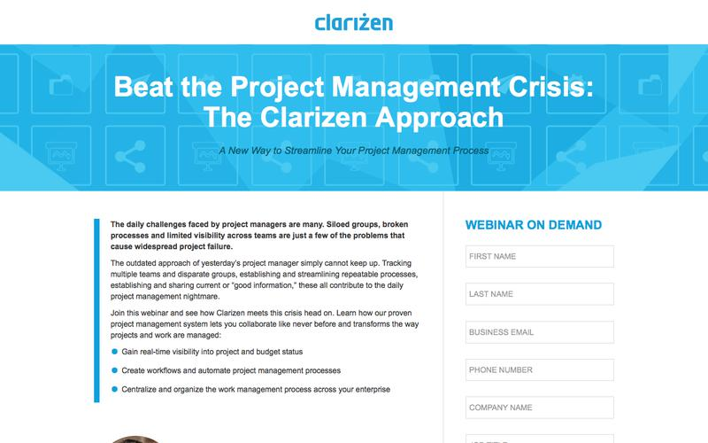Beat the Project Management Crisis: The Clarizen Approach