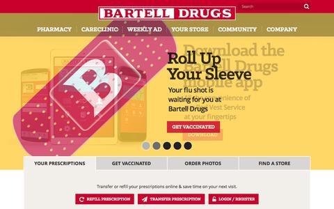 Screenshot of Home Page bartelldrugs.com - Bartell Drugs Đ WashingtonŐs Neighborhood Drugstore - captured Oct. 23, 2015