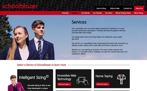 Screenshot of Services Page schoolblazer.info - Services - Schoolblazer - captured Nov. 20, 2017