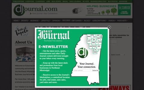 Screenshot of About Page djournal.com - About Us - Daily Journal - captured Nov. 9, 2016