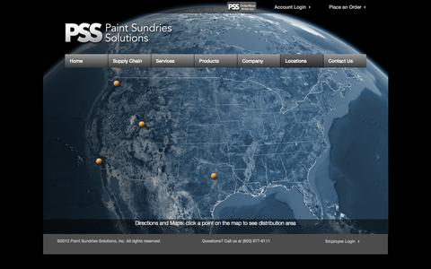 Screenshot of Locations Page paintsundries.com - Locations | Paint Sundries Solutions Inc. - captured Oct. 1, 2014