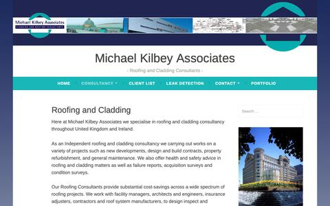Screenshot of Locations Page wordpress.com - Roofing and Cladding – Michael Kilbey Associates - captured Oct. 18, 2018