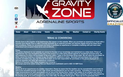 Screenshot of Terms Page gravityzone.co - Gravity Zone|Adrenaline Sports|Dubai|UAE | Terms & Conditions - captured Nov. 14, 2016