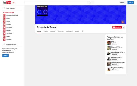 Screenshot of YouTube Page youtube.com - CycleLights Tempe  - YouTube - captured Oct. 23, 2014