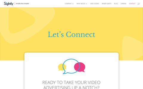 Screenshot of Contact Page sightly.com - Contact Us - Sightly - captured June 23, 2019