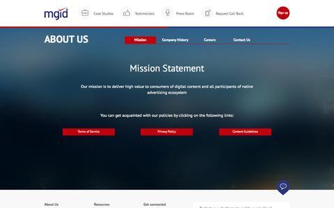 Screenshot of Jobs Page mgid.com - MGID: Native Advertising Marketplace - captured Oct. 3, 2015