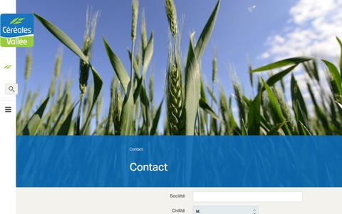 Screenshot of Contact Page cereales-vallee.org - Contact - captured Nov. 15, 2016