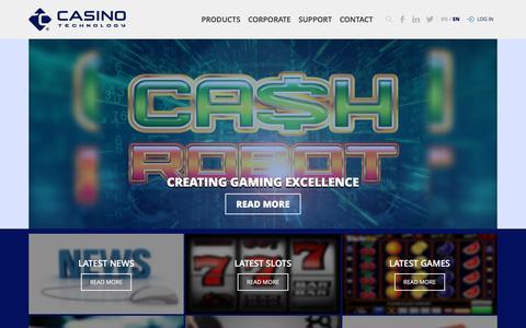 Screenshot of Home Page casino-technology.com - Casino Technology - captured April 7, 2017