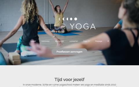 Screenshot of Home Page club-yoga.nl - Club-yoga.nl Leeuwarden | Zo vaak en wanneer je wilt. - captured July 19, 2018
