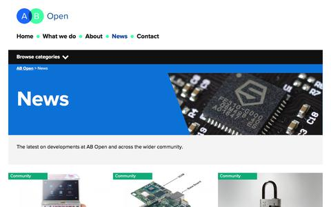 Screenshot of Press Page abopen.com - News - AB Open - captured July 28, 2018