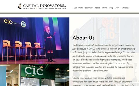 Screenshot of About Page capitalinnovators.com - About Us – Capital Innovators - captured Jan. 12, 2018