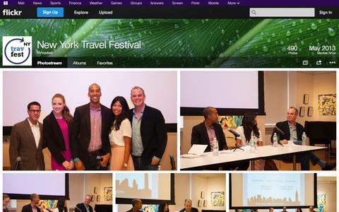 Screenshot of Flickr Page flickr.com - Flickr: NYtravfest's Photostream - captured Nov. 3, 2014