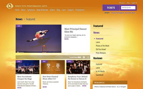 Screenshot of Press Page shenyunperformingarts.org - Shen Yun Reviews, News, and Features - captured Oct. 19, 2018